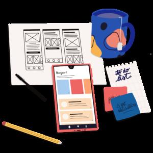 À propos - illustration UI design